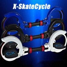 Nieuwe X8 Skatecycle Mise À Niveau 2 Twee Wielen Skate Board Twee Onderdelen Rouleau Opvouwbare Dérive de Planche À Roulettes stunt scooter voor Ext