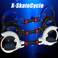 Nieuwe X8 Skatecycle Upgrade 2 Twee Wielen Skate Board Twee Onderdelen Roller Opvouwbare Drift Skateboard stunt scooter voor Ext