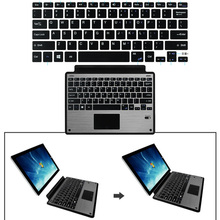 цены Anti-slip Ultra Thin Bluetooth Touchpad Keyboard for Microsoft Surface Pro 3 /4/5 Aluminum Alloy Quiet Typing Trackpad Keyboard