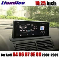 Liandlee Car Multimedia Player NAVI 10.25 inch CarPlay For Audi A4 B6 B7 8E 8H 2000~2009 Accessories Radio Wifi GPS Navigation