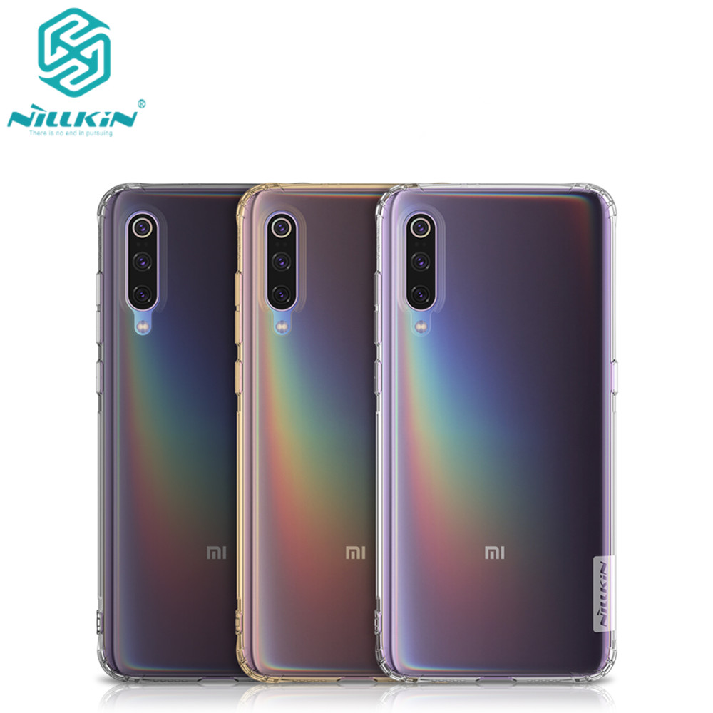10pcs lot Phone case For Xiaomi mi9 Cover Nillkin Nature TPU Soft Cover Case for Xiaomi