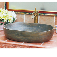 Rectangle Above Counter Porcelain Ceramic Bathroom Vessel Vanity Sink Art Basin