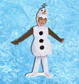 OLAF CHILD Cosplay 2015 Fantastic Plush Snowman 3-pcs Costume for Kids Halloween Carnival Party