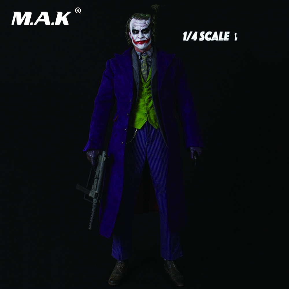 18 inches Batman The Joker 1/4 Scale Heath Ledger Head Sculpt & Clothing Suits Set and Body Full Set Figures Collections Hobbies 1 4 scale 18 inches male movable bodies collectable figures for 1 4 mens head sculpt