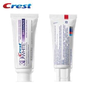 Image 2 - Crest diş macunu 3D beyaz Brilliacnce florid Anticavity diş diş derin temiz ağız sağlığı bakımı Squzzer diş macunu 116g