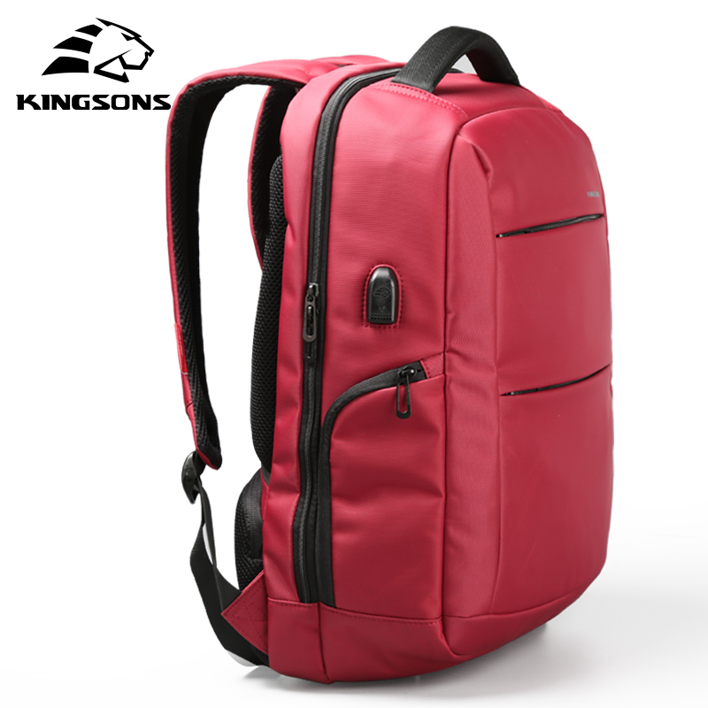 Kingsons Unisex Candy Black Laptop Bag Women Backpack Man Daily Rucksack Travel Bag School Bags 15.6 Inch Bagpack For Women ...