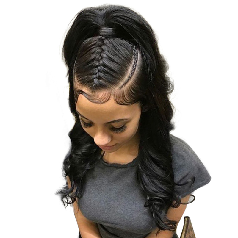 13x6 Lace Front Human Hair Wigs 250% Density Body Wave Brazilian Lace Front Wigs Pre Plucked With Baby Hair Ever Beauty Remy