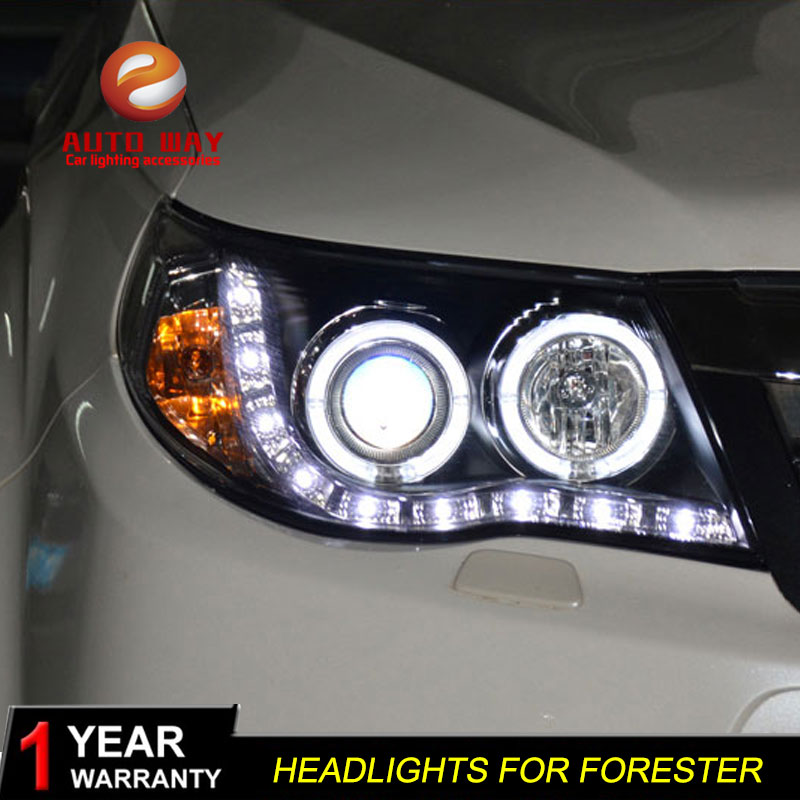 high quality Car Styling case for Subaru Forester 2008 2012 Headlights LED Headlight DRL Lens Double
