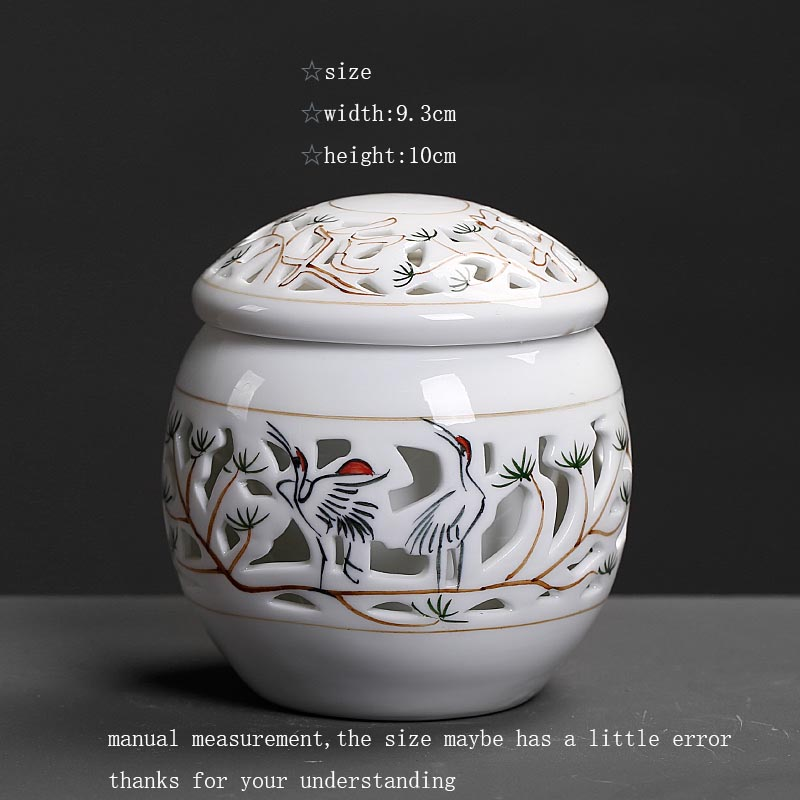 Jingdezhen Ceramic Porcelain Hollow Tea Storage Jar Office Teaware Kung Fu Tea Set Accessories Tieguanyin Tea Leaves Tanks Cans | .wishlists.tk & Jingdezhen Ceramic Porcelain Hollow Tea Storage Jar Office Teaware ...