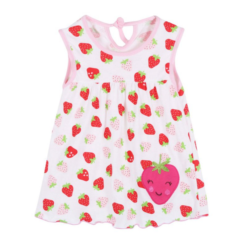 780bbb3f48a Flower Printed Toddlers Girls Princess Dress Baby Girls A-Line Lovely  Sleeveless Summer Dresses Kids Girls Soft Cotton Clothes