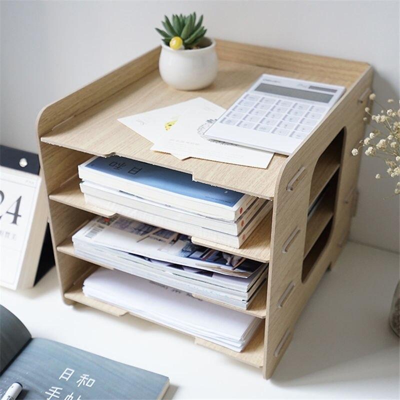 Objective Coloffice Creative Plastic Desk Organizer Diy Desktop File Holder Cd Magazine Bookends/ Bookshelf Children Reading Bookshelf 1pc Novel Design; In