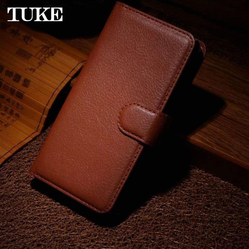 TUKE Litchi Texture Leather Case For ZTE Prestige N9132 Flip Card Slot Design Fashion Wallet Stand Case