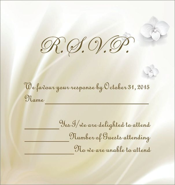Custom Personalize Printing Design Wedding Response Cards RSVP Cards