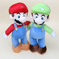 """Супер марио аниме игры симпатичные супер марио стенд MARIO и LUIGI плюшевые куклы мягкая игрушка приблизительно 14 """""""