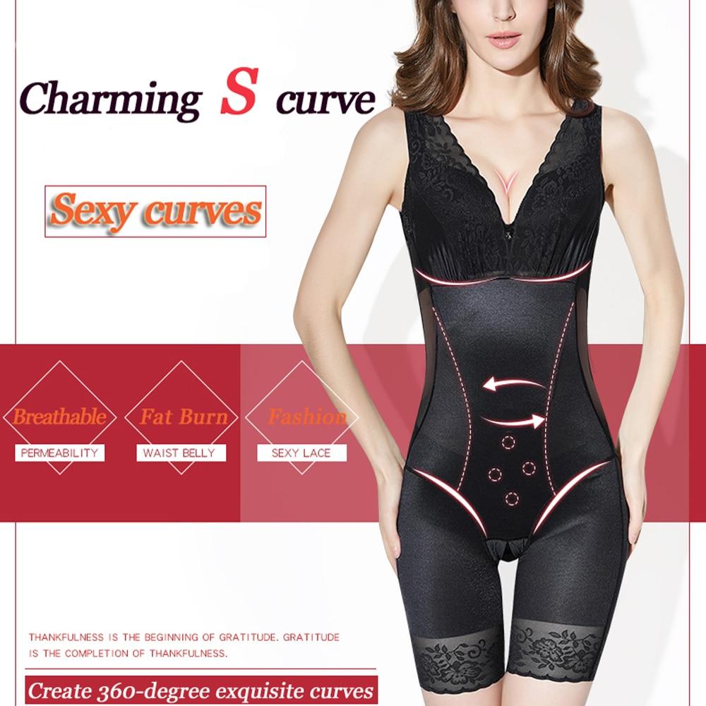 Women's Corrective Shapewear Tummy Suit Control Underbust Women Body Shaper Slimming Underwear Vest Bodysuits Sexy Jumpsuit - 3