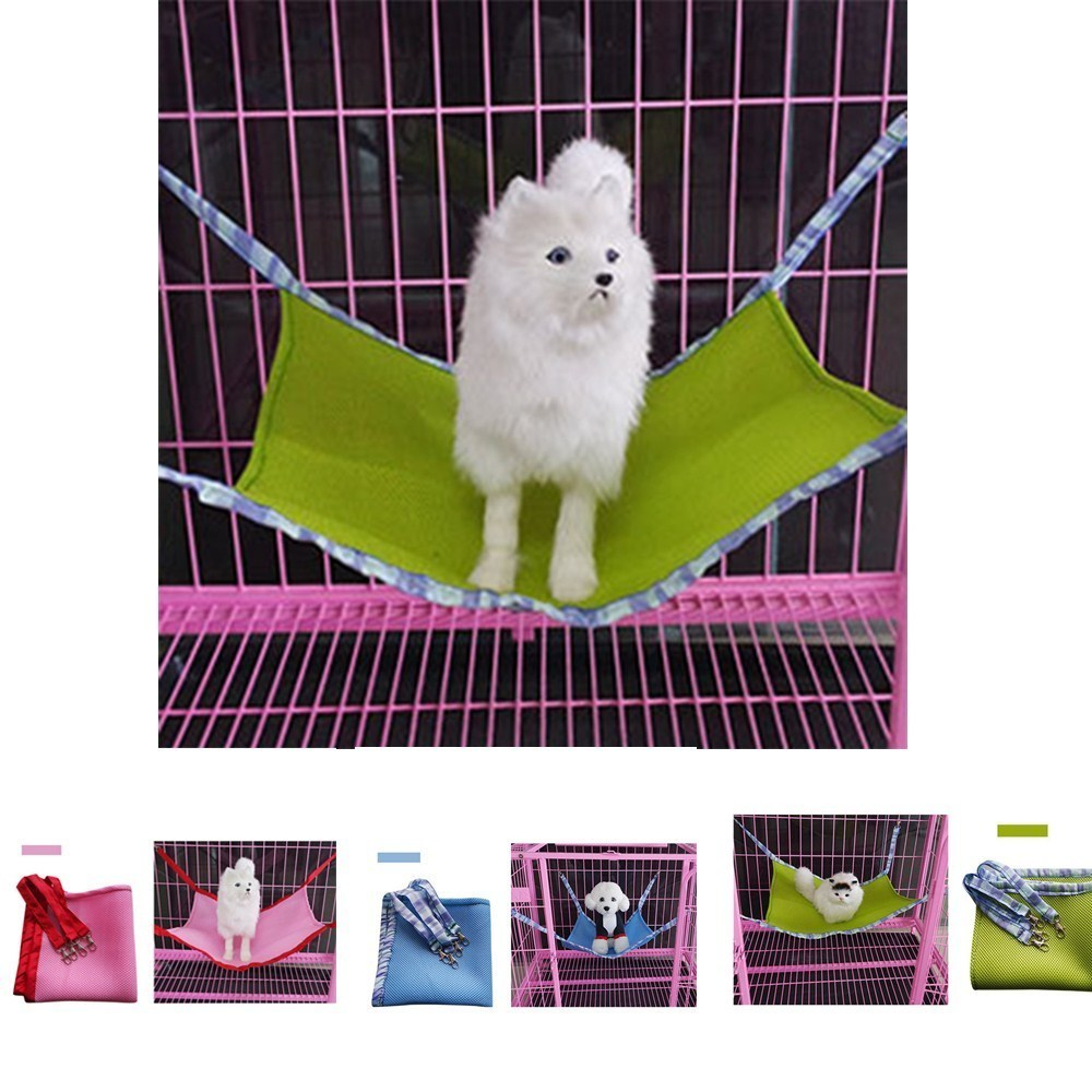 High -Quality Pet Kitten Cat Removlable Hanging Soft Bed Kittey Rat Small Pet Chair Cage Swing Made of Breathable Mesh 3 Colors