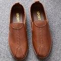 AD AcolorDay Famoso Diseñador de Los Hombres Zapatos de Los Planos Del Barco Moda de Alta calidad de Luz Suave Deslizamiento de los Hombres Sólidos Diseñador Suede Hombres zapatos