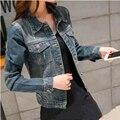 Джинсовый жакет женщины короткий параграф осенью и зимой longsleeved Корейский Тонкий большой размер куртка джинсовая одежда женщины были тонкие