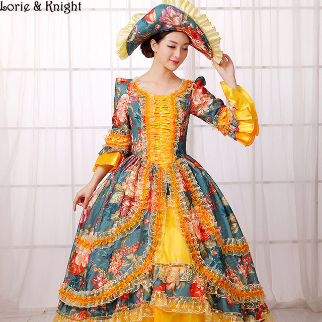 Queen Marie Antoinette Dress Inspired Royal Ball Gowns Stage Costume ...
