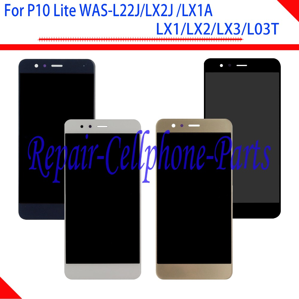 5.2 inch Full LCD DIsplay+Touch Screen Digitizer Assembly For Huawei P10 lite WAS-L22J/ LX2J/ LX1A/ LX1/LX2/LX3/L03T
