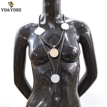 YD&YDBZ New Designer Luxury Necklaces Women Rubber Chains Handmade Statement Necklace Germany Style Jewelry Clothes Accessories