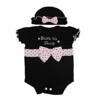 Cool Black Baby Doll Clothes Suit For 22 23 Inch Reborn Dolls Rompers Hat With Pink