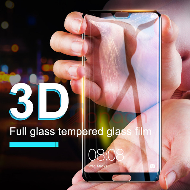 GPNACN 3D Full Cover Tempered Glass For Huawei P20 Pro P10 Plus Lite Screen Protector For Honor 10 V10 9 Lite Honor 8 Lite Glass Phone Screen Protectors