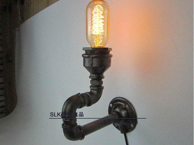 Vintage luminaires edison lumière industrielle tuyau en métal