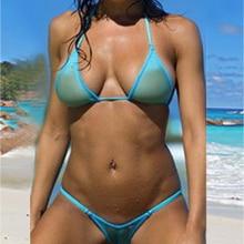 Sheer thongs bikini