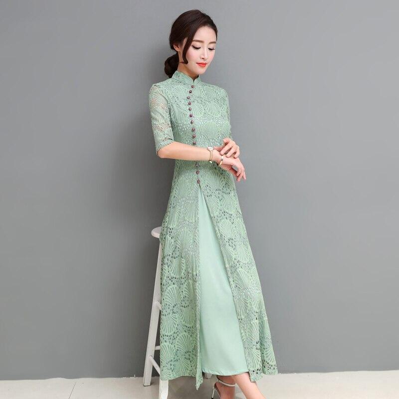 2019 Asian Vietnamese Traditionally Dress Party Dress Traditional Embroidery  Aodai Vietnam Clothing Ao Dai Asian Dress