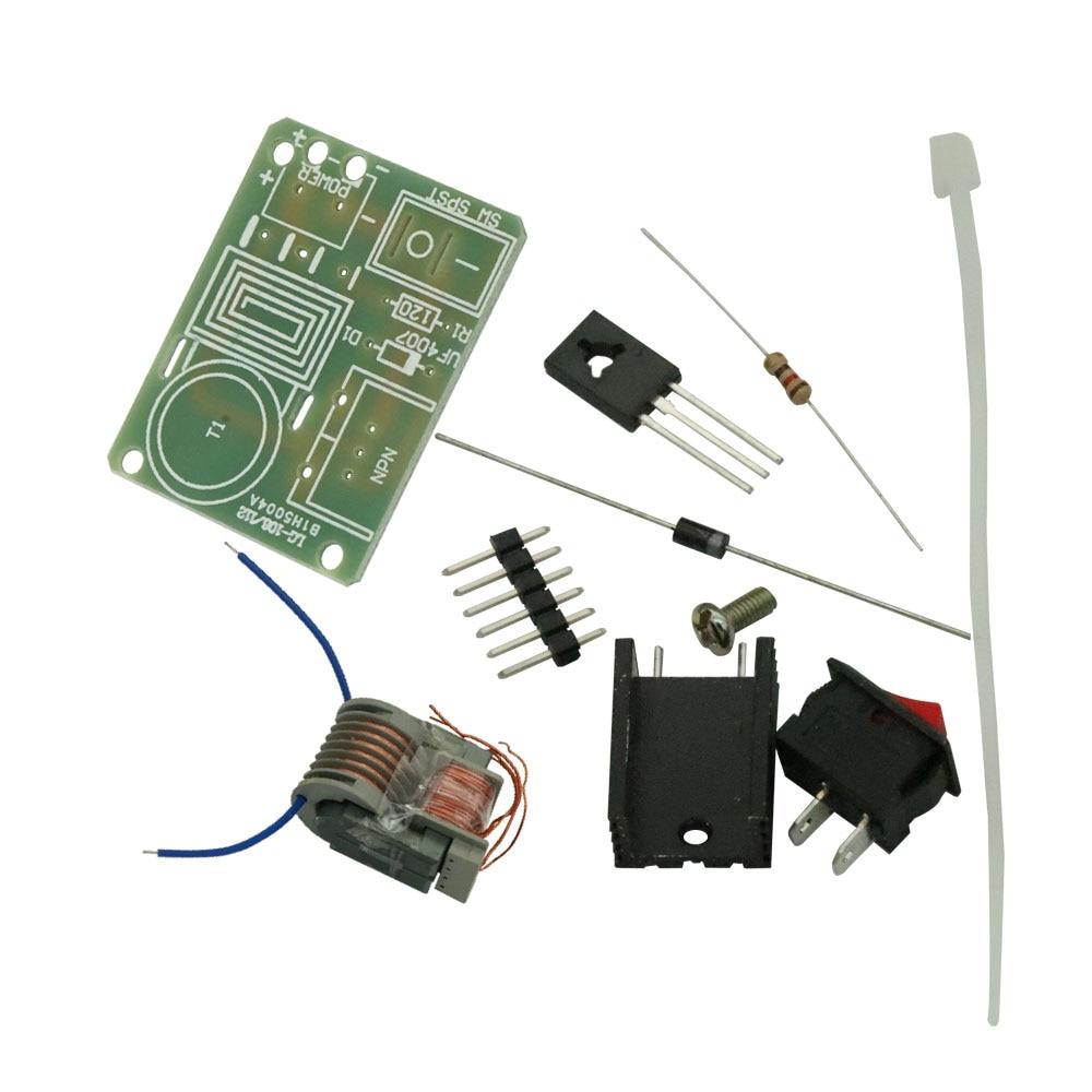15KV High Voltage Generator Step-up Inverter Arc Cigarette Ignition Coil Module Transformer Electronic Parts Suite 3.7V DIY Kit