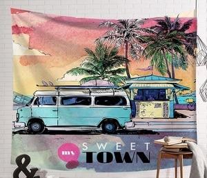 Image 3 - CAMMITEVER tabla de Surf para deportes de playa, verano, tapetes para colgar en la pared, cielo azul, decorativos