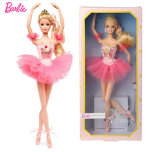 Original Barbie Ballet Fairy Girl Princess Play House CollectIon Edition Childrens Toy Set DVP52 Toys Dolls for Girls Gift