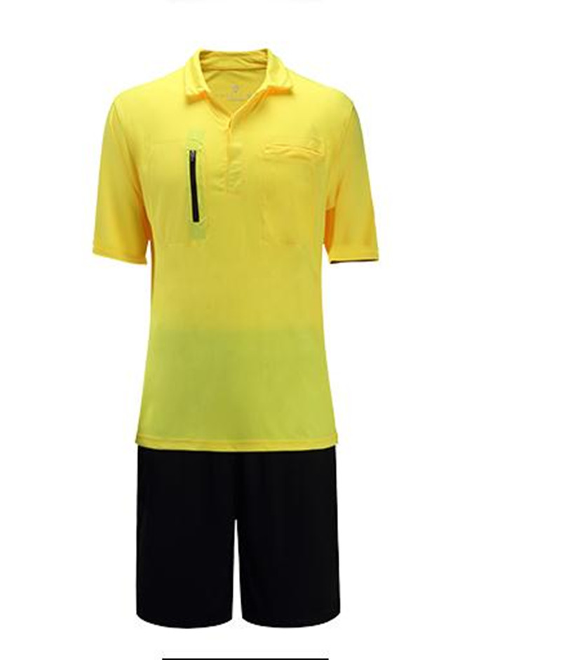 New Men Professional Soccer Referee Uniforms Jersey Set Judge Tracksuits clothes basketball Football Jerseys Suit pant equipment