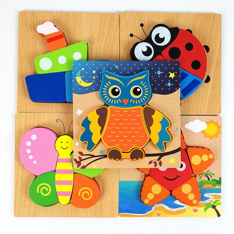 Bebé Montessori Aprendizaje Educativo Juguetes de Madera Búho - Juegos y rompecabezas