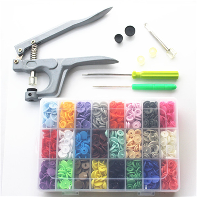 1 набор металлических пресс-плоскогубцев инструменты, используемые для T3 T5 T8 Kam кнопки крепления плоскогубцы + 360 набор T5 пластиковые смолы П...
