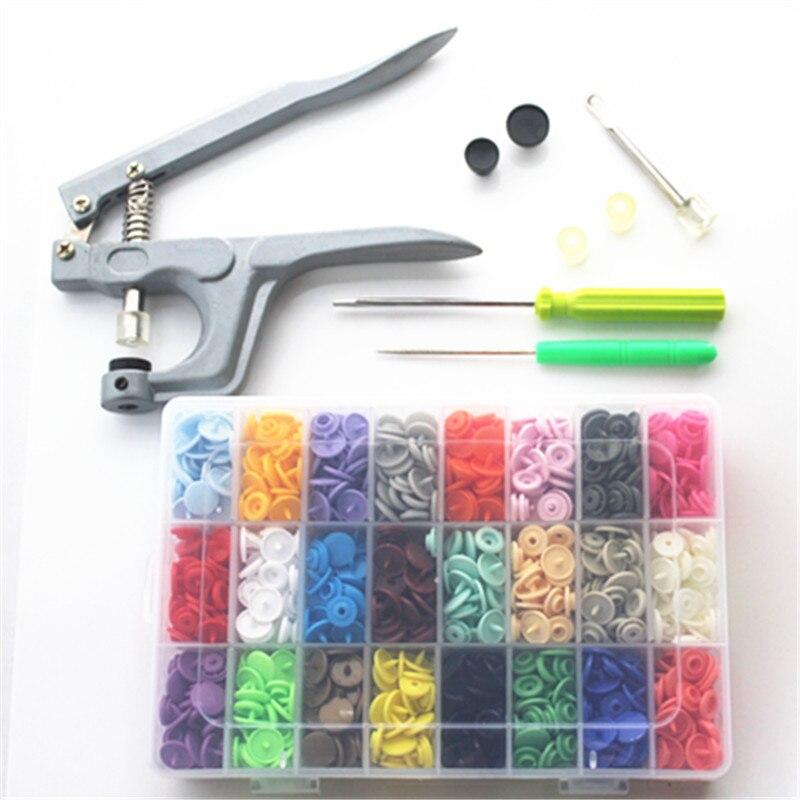 1 Set Metal Press Pinze Strumenti Utilizzati per T3 T5 T8 Kam Button Fastener Snap Pinze 360 Set T5 Plastica Resina Bottoni a pressione di Stoffa pannolino