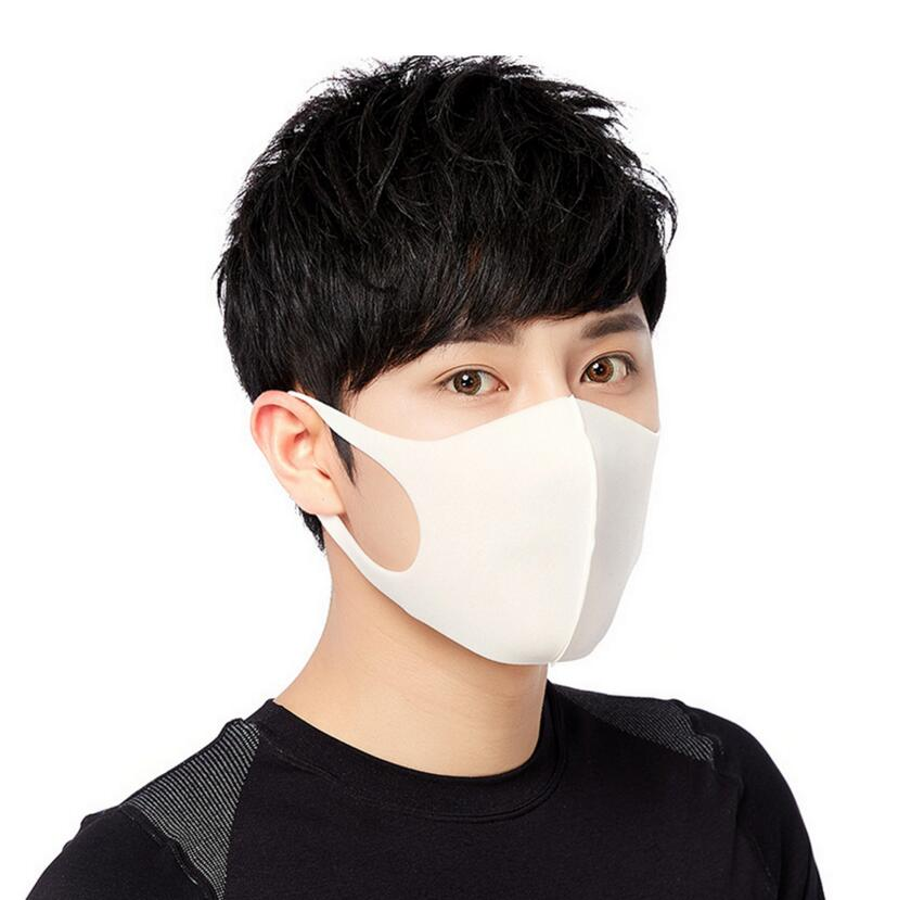 Moledodo 100pcs/lot White Mouth Mask Adult Anti Haze Sponge Face Fashion style Anti-dust Windproof Black D50