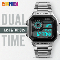 SKMEI Digital Men Watch Fashion Dual Time Watches Alarm Chronograph Water Resistant Wristwatches Relogio Masculino Erkek