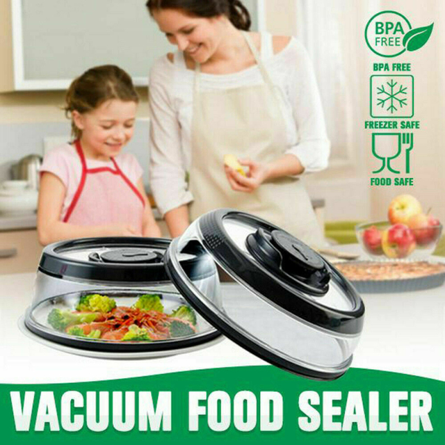 19*5.8cm Vacuum Container Cover Storage Microwave Food Seal Cover Wrap Vacuum Food Sealer Fresh Protector Lid Kitchen