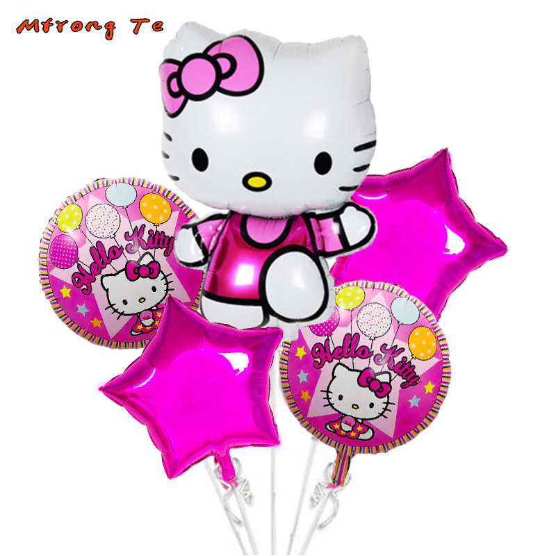 9a469c598 Aliexpress.com : Buy 5pcs/lot Hello Kitty foil balloons for baby shower 1st  first year old girl birthday party Decoration Inflatable kidsToys from  Reliable ...