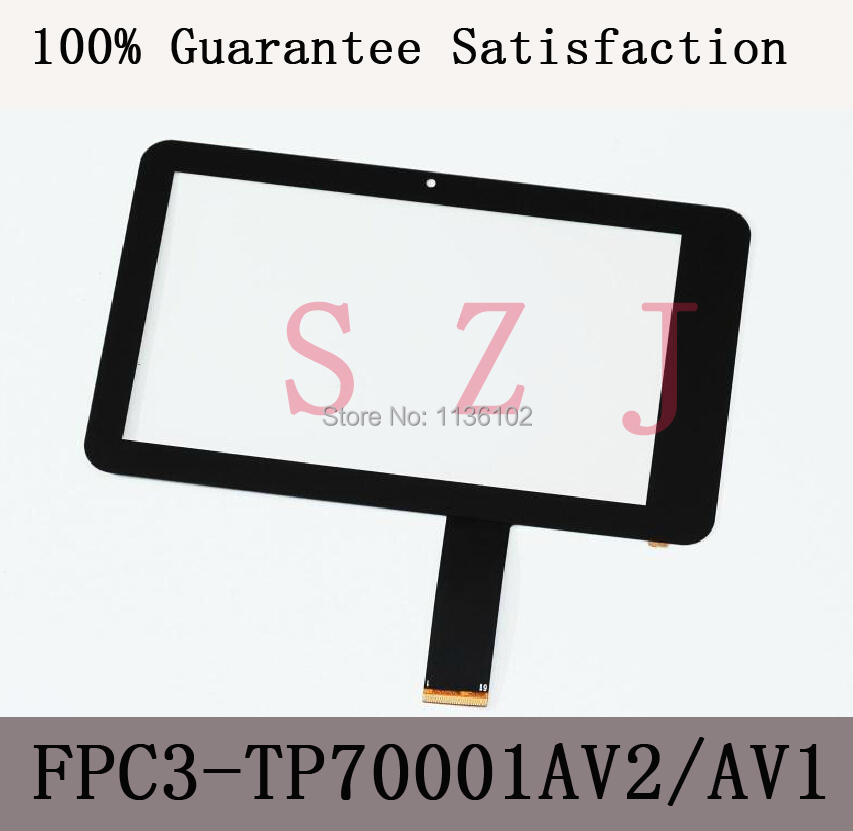 (Ref: FPC3-TP70001AV2/MH7001T-00FPC)7 inch LCD touch panel LCD touch digitizer glass for Freelander PD10 PD20 tablet PC