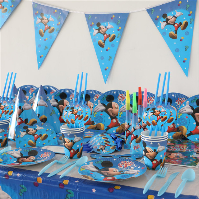People Decorating For A Party aliexpress : buy 10 people mickey mouse theme party supplies