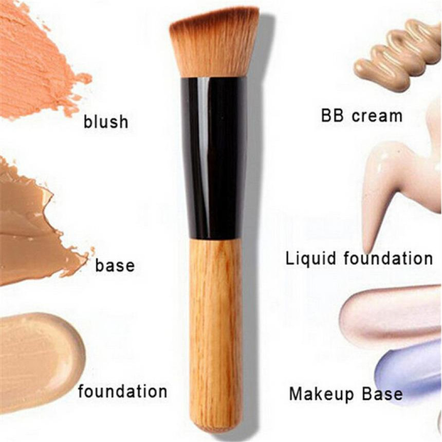 2017 Powder Concealer Blush Makeup brushes Liquid Foundation Face Make up Brush Tools Professional Beauty Cosmetics new makeup brushes black aluminum retractable blush brush make up professional tools nice gift for you maquiagem face concealer