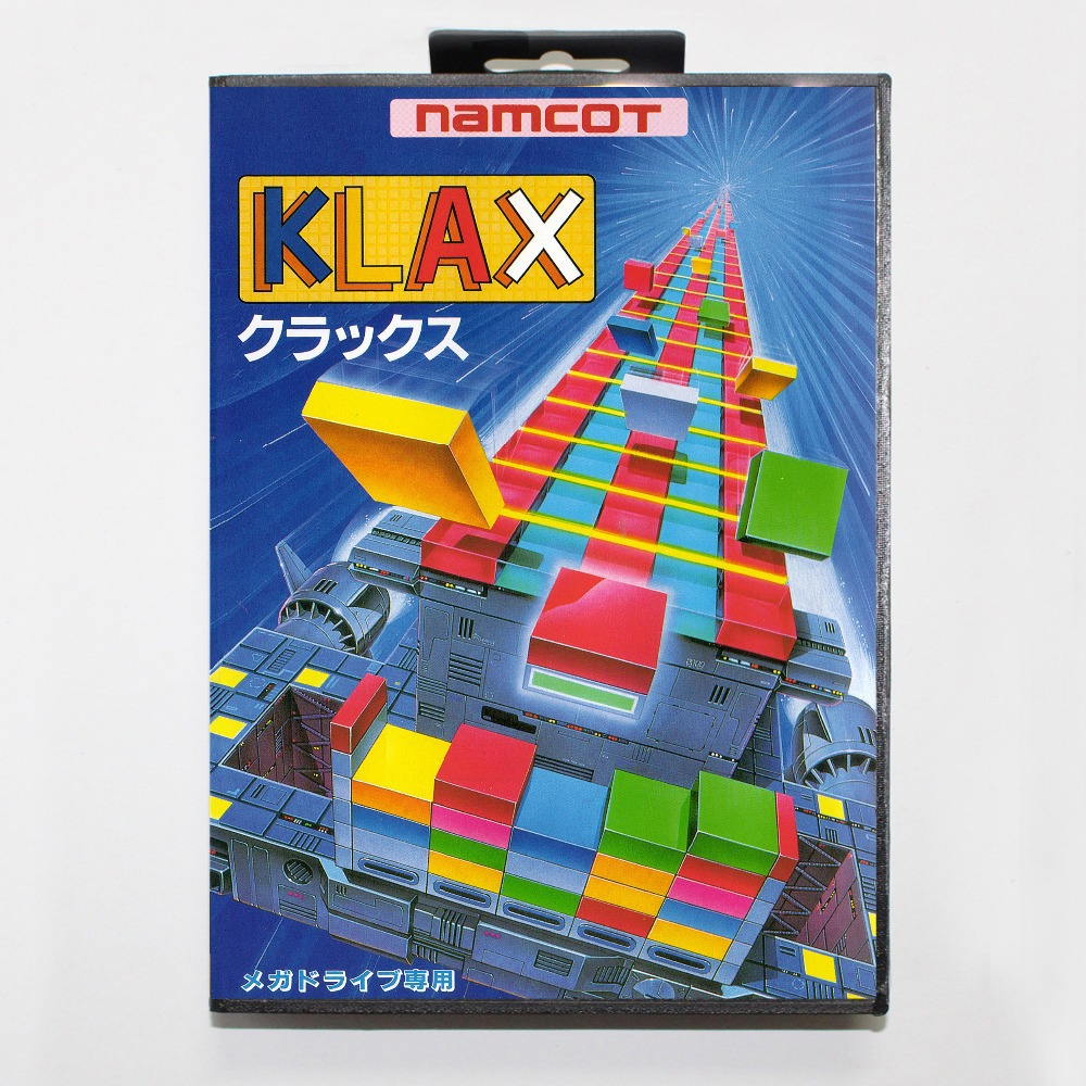 16 bit Sega MD game Cartridge with Retail box - Klax game cart for Megadrive for Genesis system