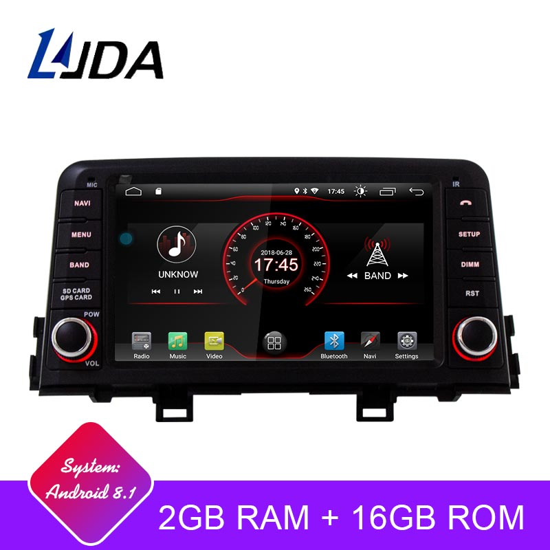 LJDA Android 9 1 Car DVD font b Player b font For KIA PICANTO MORNING 2017