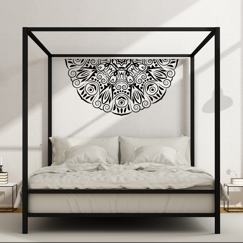 Bohe Mandala Flower Wall Paper Decor Yoga Studio Vinyl: ᑎ‰Half Mandala Flower √ Wall Wall Decal Master Bedroom
