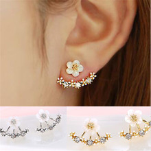 Crystal Stud Earrings Boucle d'oreille Femme 2016 Fashion Flower Earrings for Women Gold Bijoux Jewelry Brincos Pendientes Mujer