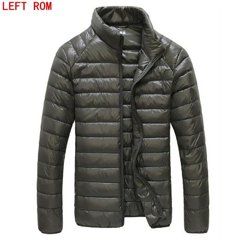 2017 Autumn Winter Duck   Down   Jacket Ultra light Men 90%   Coat   Waterproof   Down   Parkas Fashion mens collar Outerwear   coat   Size 5XL