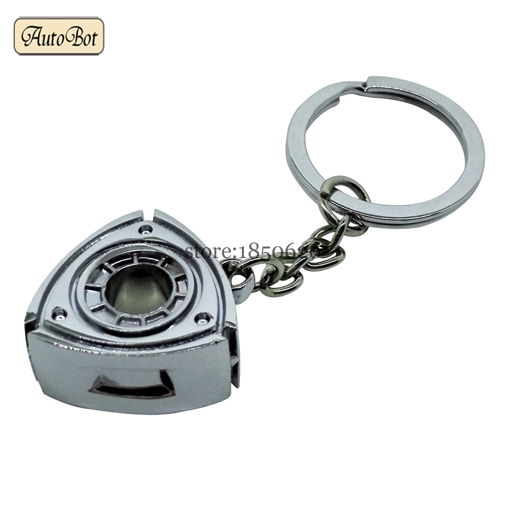 Keyring Rotary Wankel Engine Rotor For Mazda Rx7 Rx8 2 3 6 Atenza Axela Keychain Turbo Car